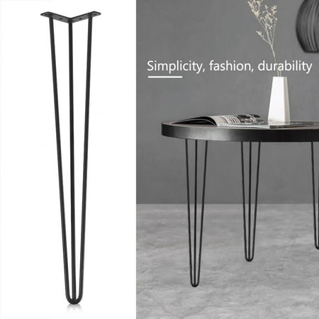 Hilitand 4Pcs/set Table Hairpin Legs Hairpin Metal Furniture Table Legs Solid Iron Laptop Desk Legs for Furniture end Tables, Sofa Tables, DIY Wood Benches(28inch/30inch) ()