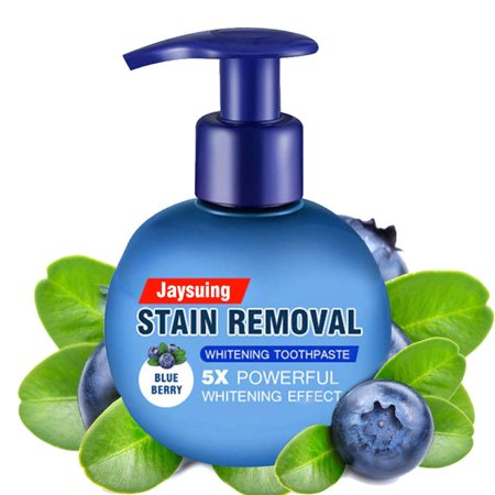 TekDeals Intensive Stain Removal Teeth Whitening Toothpaste Fight Bleeding Gums Blueberry Plaque Removal Teeth
