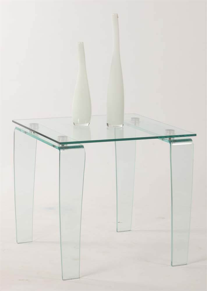 Glass Lamp Table by Chintaly Imports
