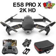The Bigly Brothers E58 Pro X Edition 2.4G FPV Drone with Camera 2K HD Remote Adjustable Camera, Infrared Obstacle Avoidance, x10 Zoom, Plus free Carrying Case - w/ Extra 1200mAh Battery