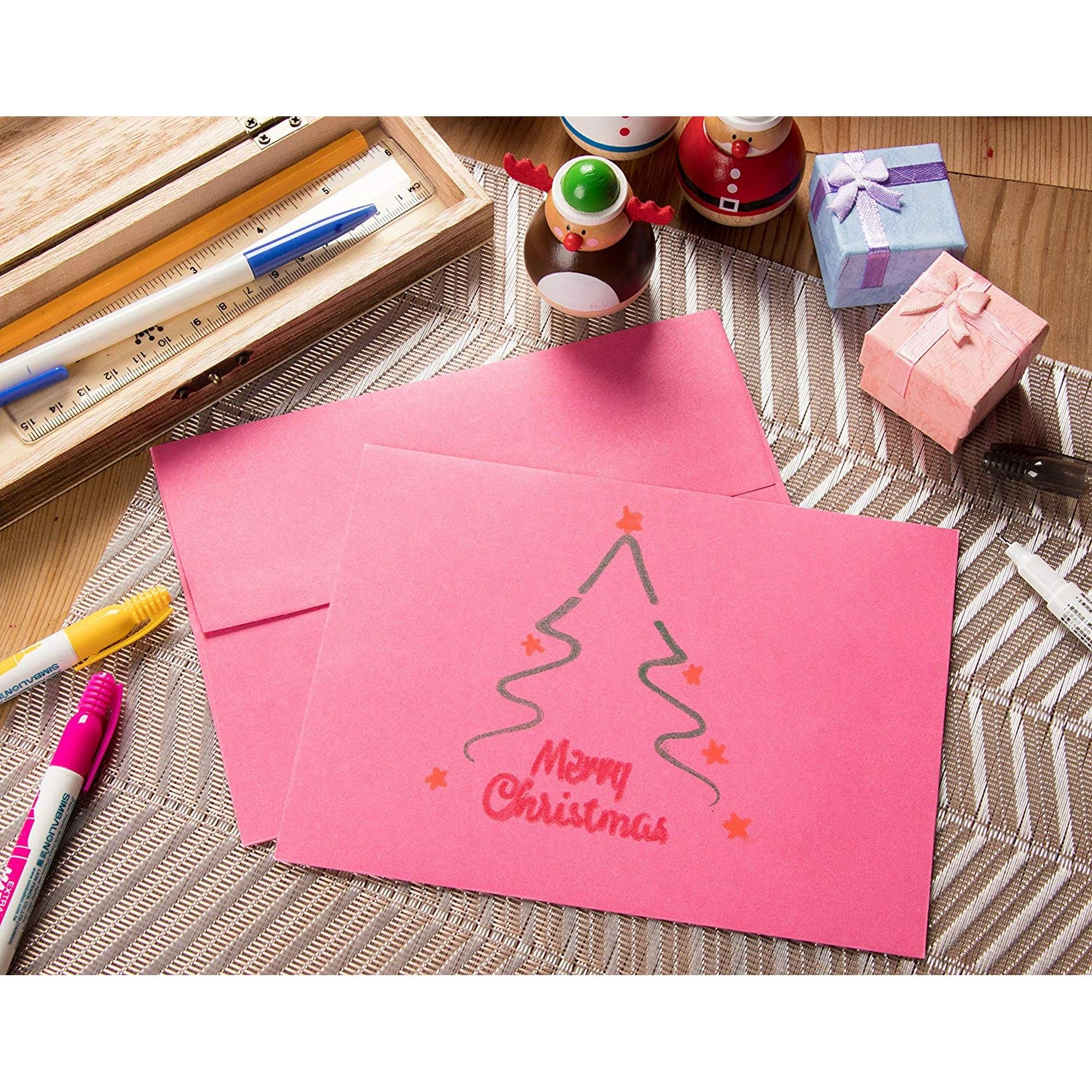 Holiday 5 x 7 Gummed Seal Square-Flap Invite Envelope for Wedding 5.25 x 7.25 inches 120gsm Birthday Purple Baby Shower 100-Pack Invitation Envelopes A7 Envelopes