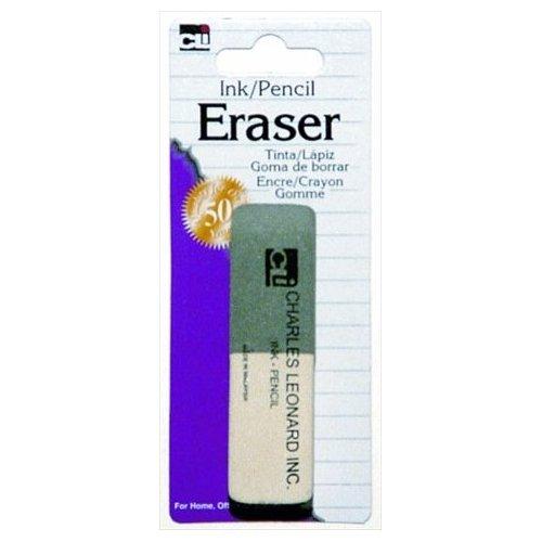 Eraser, Pencil/Ink Combo 1pk,Charles Leonard, Inc,80795