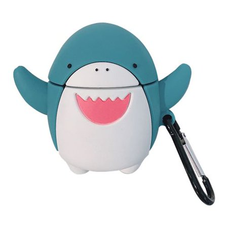 AkoaDa Airpods Case Cute 3D Cartoon Shark Soft Silicone Airpod Funny Cover AirPods Accessories with Keychain Carabiner for Apple Airpods 1/2 Airpods Case Cute 3D Cartoon Shark Soft Silicone Airpod Funny Cover AirPods Accessories with Keychain Carabiner for Apple Airpods 1/2