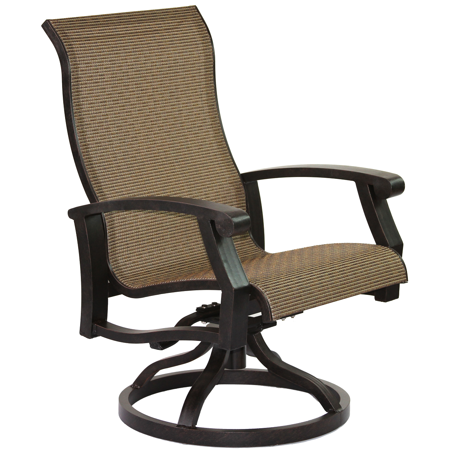 Barbados Sling Cast Aluminum Swivel rocker ()