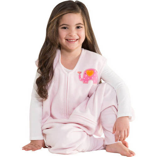 HALO Big Kids SleepSack Wearable Blanket, Microfleece, Blue Truck, 2T-3T