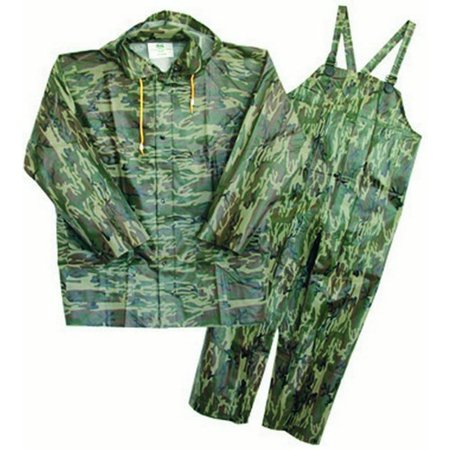 Camouflage PVC-Coated Polyester Rain Suit X-Large