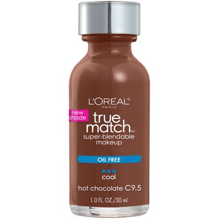 L'Oreal Paris True Match Super-Blendable Foundation Makeup with SPF 17 -  C9.5 Hot Chocolate - 1 fl oz