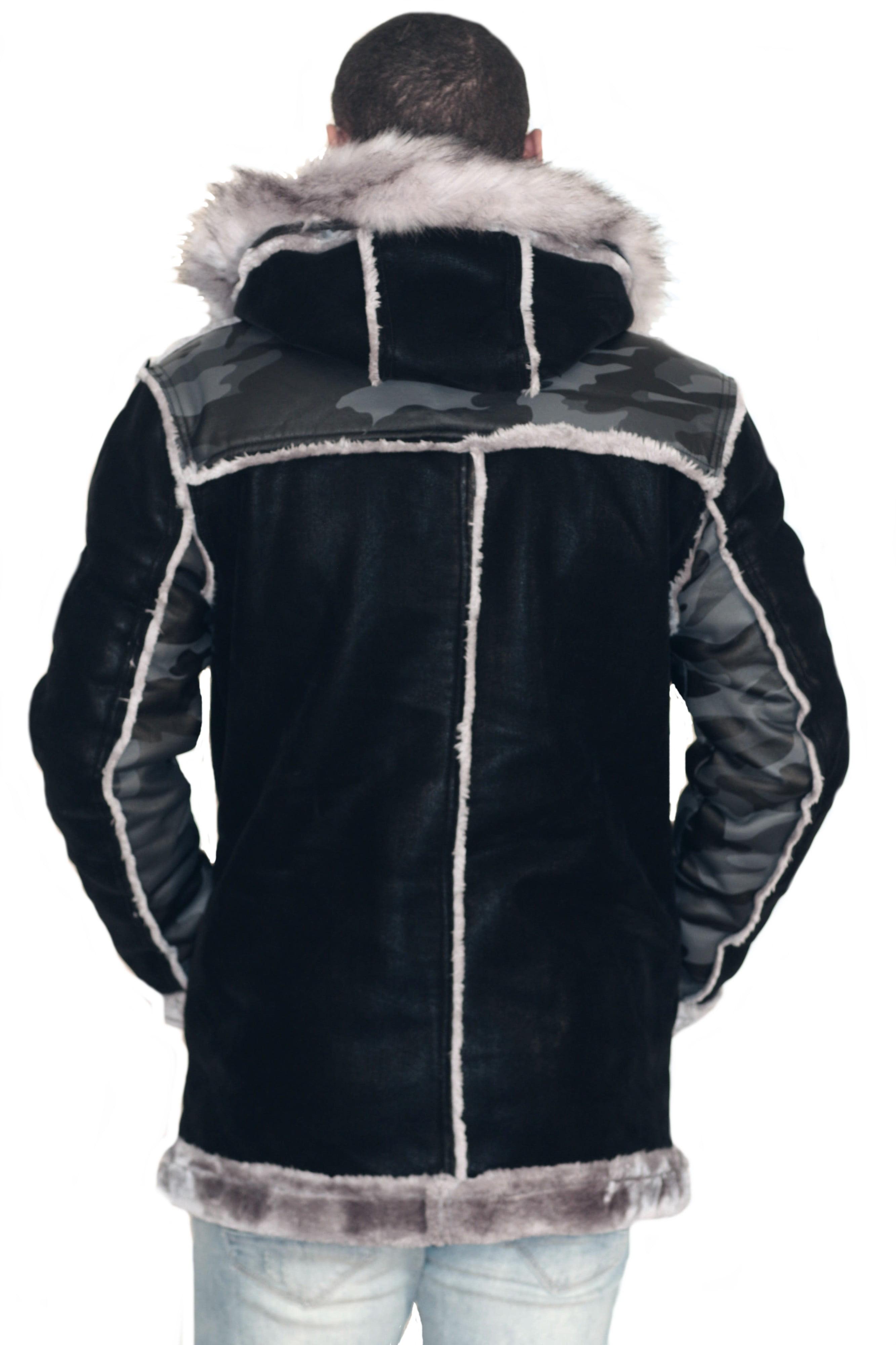 740d842bb1375 Jordan Craig - Jordan Craig Siberian Camouflage Shearling Jacket Black Camo  - Walmart.com