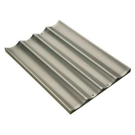 FocusFoodService 904 005 4 Pocket longue Baguette Pan avec Perf vitr-e en aluminium - Lot de 6 - image 1 de 1