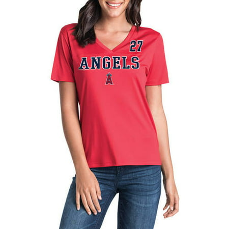 Mike Schmidt Signed Baseball - MLB Los Angeles Angels Women's Mike Trout Short Sleeve Player Tee