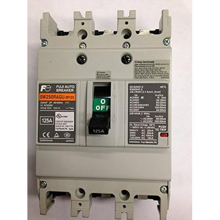 FUJI BW250RAGU-3P125 Circuit Breaker Thermal Magnetic 3Pole 125A 690VAC/250VDC - Fuji Circuit Breaker
