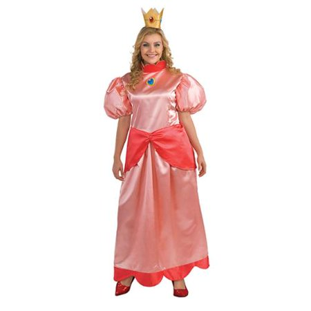 Princess Peach Adult Costume - Plus Size - Princess Peach Adult Games