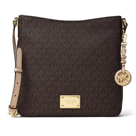 1aa207eaea44 Michael Kors Jet Set Travel Large Logo Messenger - Brown - 30H6GTVM3V-200 -  Walmart.com