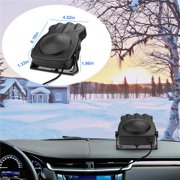 VETOMILE 2 In 1 12V Car Defogger Auto Heater Fan Defrost & Demist 180°Rotatable Defogger,Fast Heating Car Heater Fan,150W Auto Defroster Heater with Cigarette Lighter Plug for Car SUV Truck