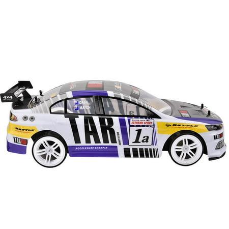 Herwey RC Racing, voiture de jouet RC, 1/10 quatre roues motrices 4WD télécommande modèle RC Racing Car Drift Toy Vehicle - image 8 de 8
