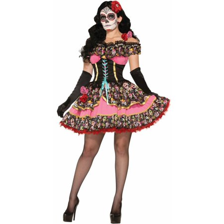 Adult Day of the Dead Senorita Sexy - Day Of The Dead Groom Costume