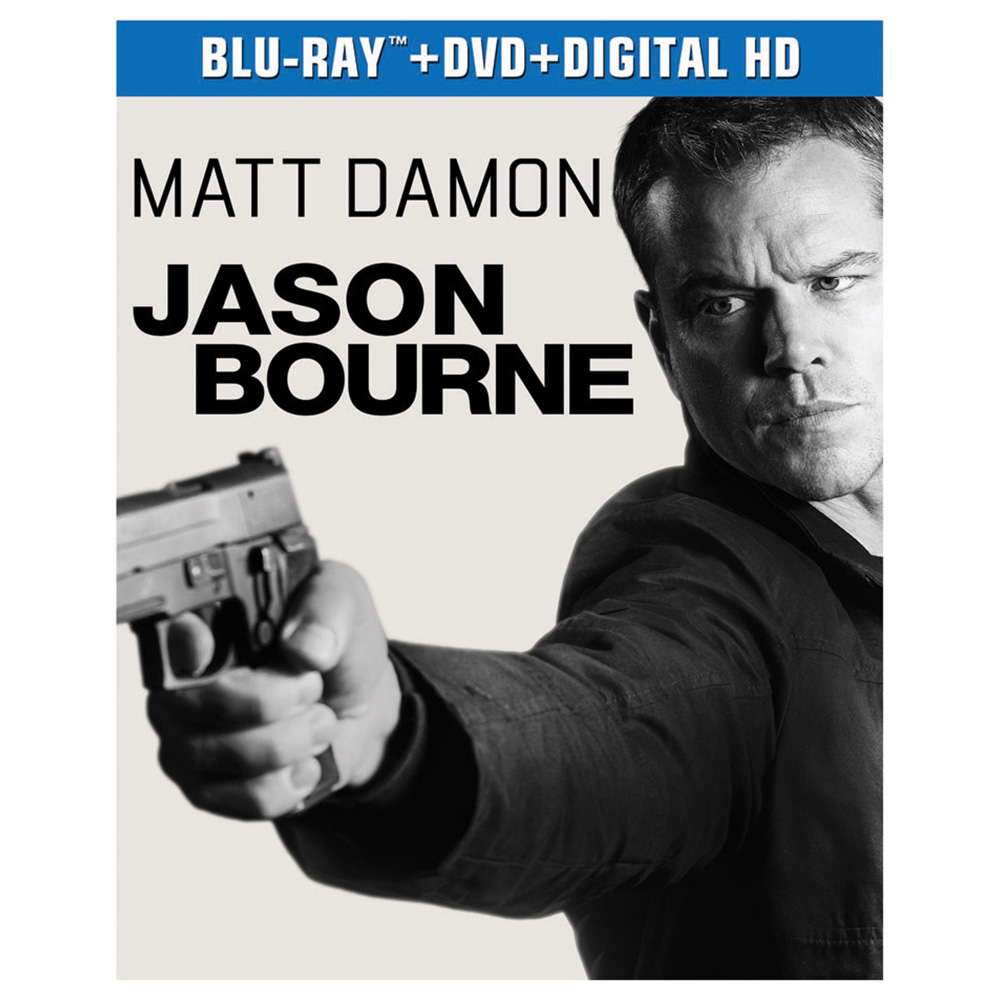 Jason Bourne, New Movie (Blu Ray   DVD   Digital HD Combo Pack)(With INSTAWATCH)