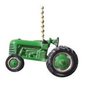 Green Agricultural Farm Tractor Ceiling Fan Light Pull