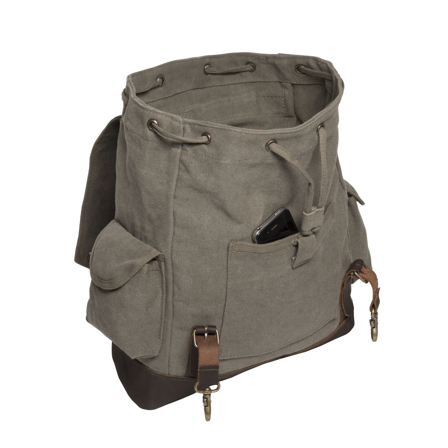 3badda522efa Jeep An American Tradition Vintage Canvas Rucksack Backpack with Leather  Straps - Walmart.com