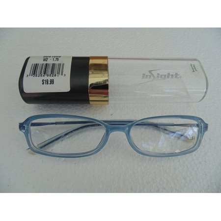 Reading Glasses Blue Ice Frame +1.75, Insight Readers By Insight From USA
