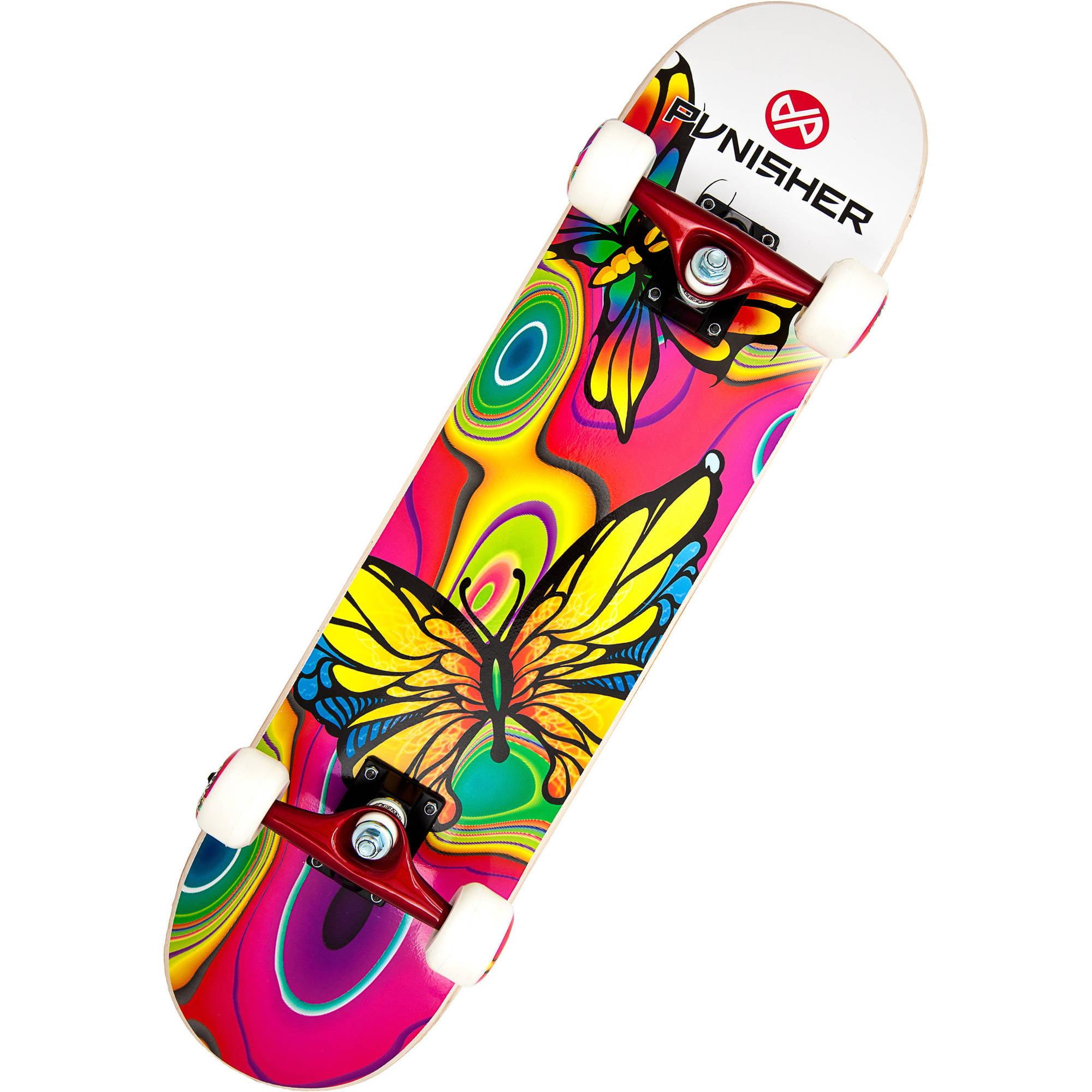 """Punisher Skateboards Butterfly Jive 31.5"""" ABEC-7 Complete Skateboard"""