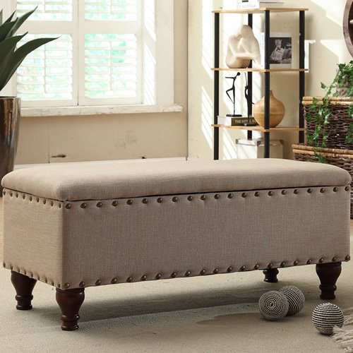 HomePop Upholstered Storage Entryway Bench