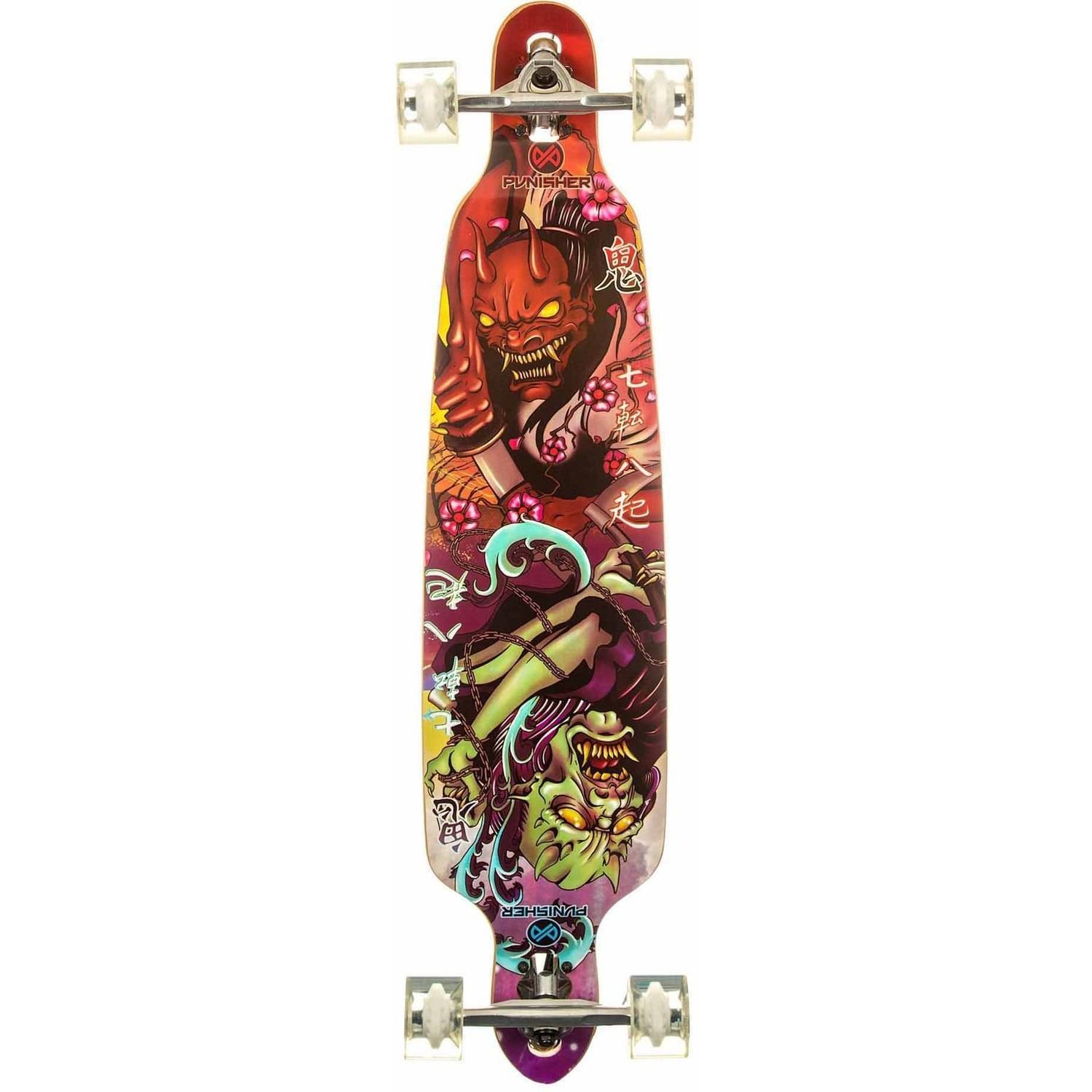 """Punisher Skateboards Oni 40"""" Longboard, Double Kick with Drop Down Deck by Generic"""