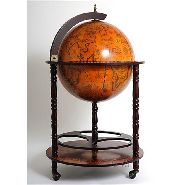 Old Modern Handicrafts Ng001 Globe Drinks Cabinet 450Mm Floor Stand-Red by Old Modern Handicrafts
