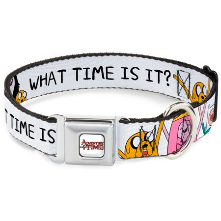 Dog Collar ATA-Adventure Time Logo White - Jake Princess Bubblegum Finn - Pet Collar
