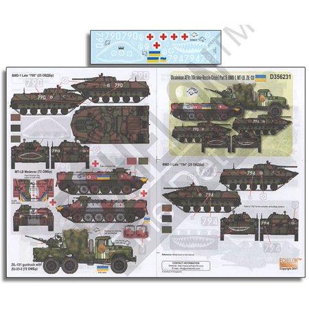 Echelon Fine Decal 1:35 Ukrainian AFVs Pt.9: BMD-1, MT-LB & ZIL-131 #D356231 Echelon Echelon Shower Locker