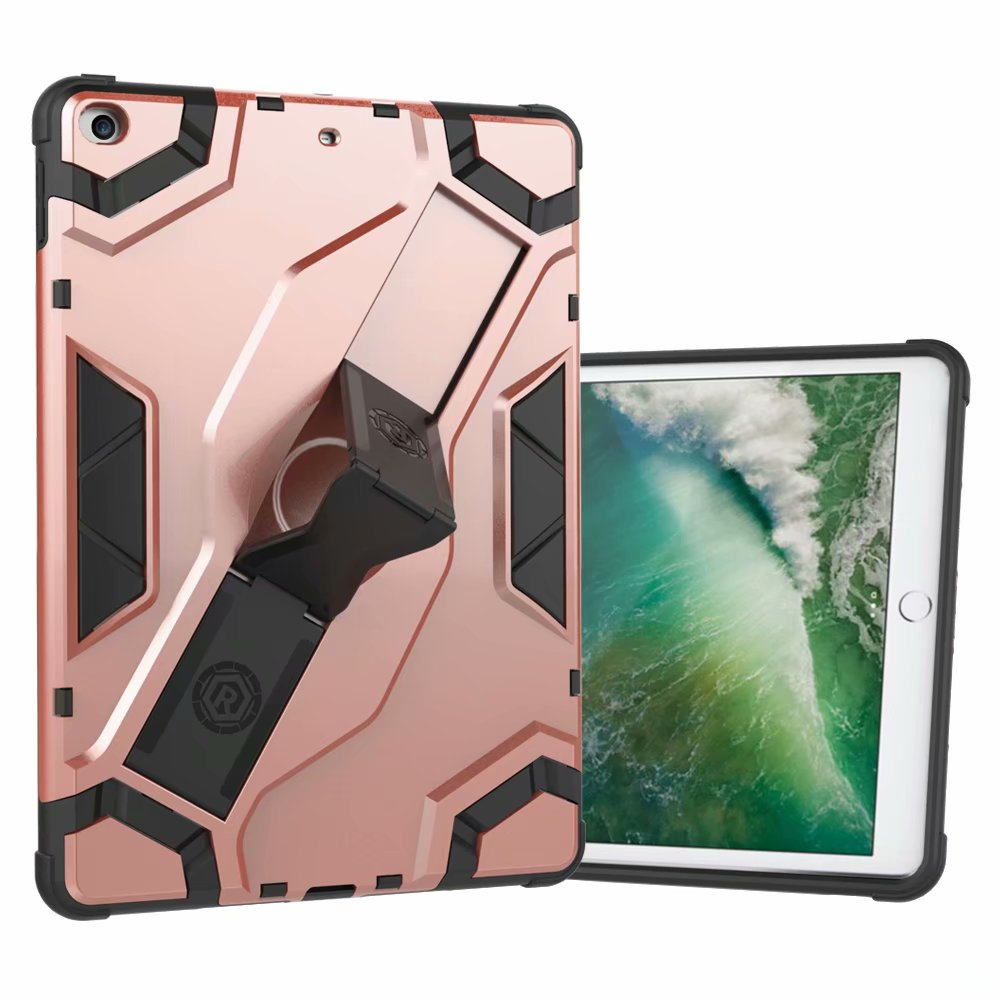 iPad Air 2 Case, Dteck Hybrid Shockproof Heavy Duty Cover With Kickstand For Apple iPad Air 2 Rosegold