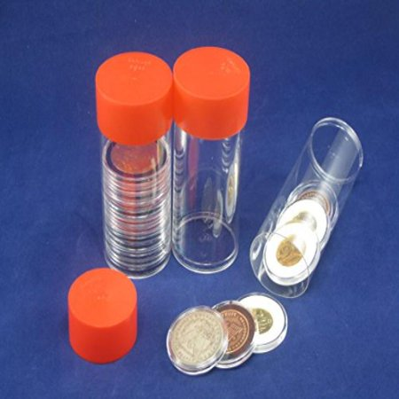 - 1 Airtite Coin Holder Storage Container & 10 Direct Fit A-26 Air-Tite Coin Holder Capsules for Small Dollars