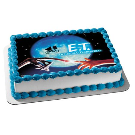 Dirt Bike Birthday Party Supplies (E.T. the Extra Terrestrial Bike Moon Edible Cake Topper)