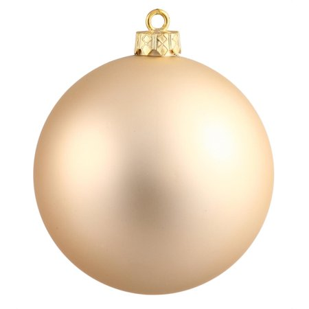 Matte Champagne UV Resistant Commercial Drilled Shatterproof Christmas Ball Ornament 2.75