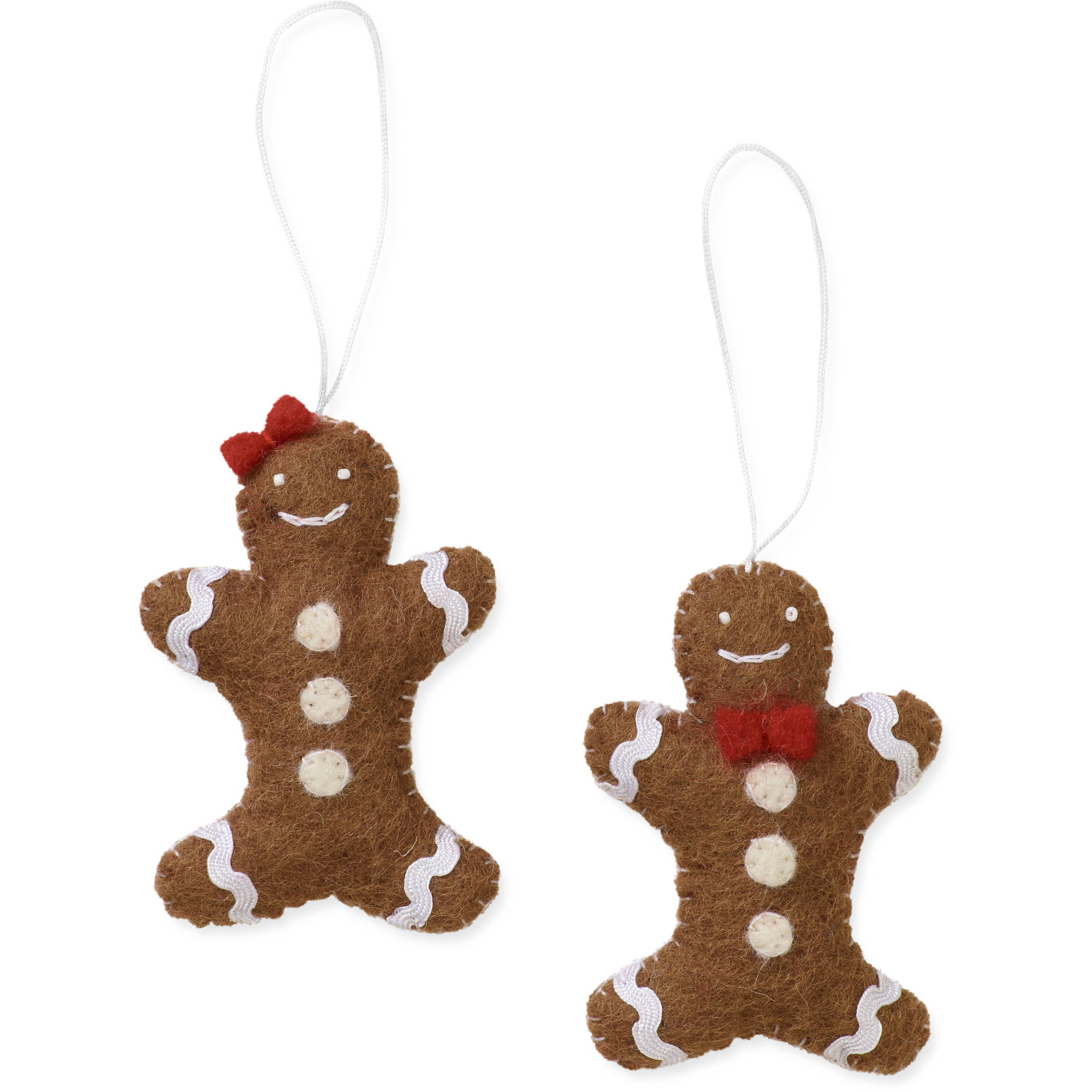 **fast Track**2 Piece Gingerbread Orname