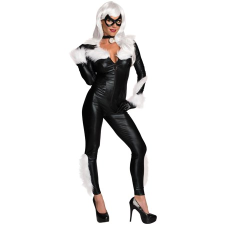 Adult's Womens Sexy Marvel Spiderman Villain Black Cat Costume - Superheroes And Villains Costumes