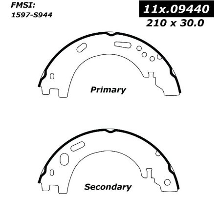 OE Replacement for 2006-2013 Land Rover Range Rover Sport Rear Parking Brake Shoe (Autobiography / Base / GT Limited Edition / GT Limited Edition 3 / HSE / HSE Lux /