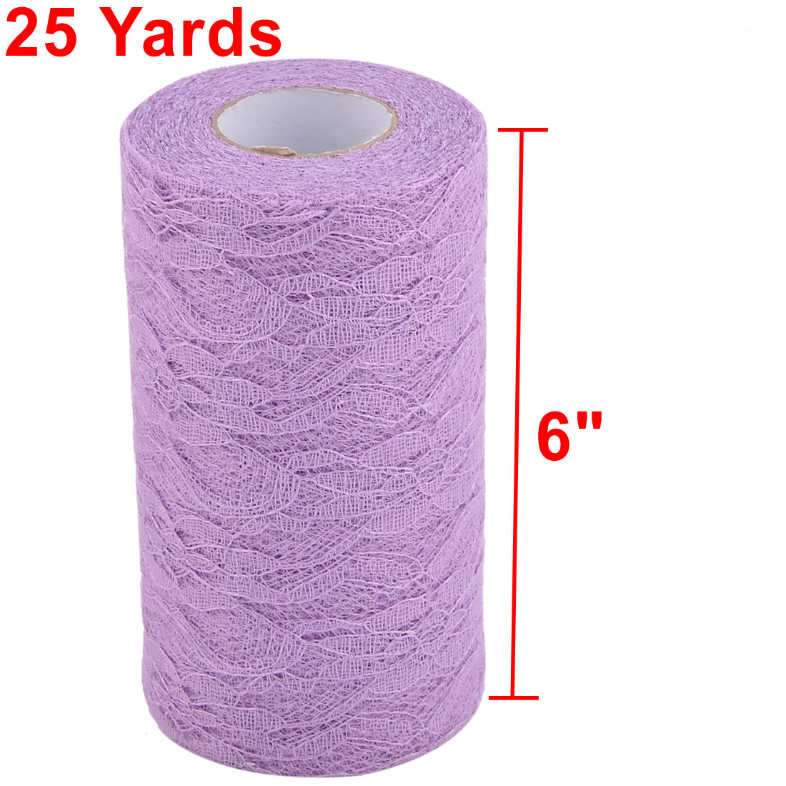 Party Lace Banquet Hall Decor Tulle Spool Roll Light Purple 6 Inch x 25 Yards - image 4 of 5