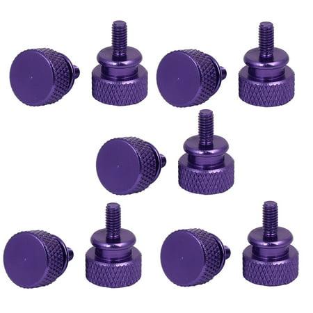 Screw Lock Pc (Computer PC Case Fully Threaded Knurled Thumb Screws Purple M3.5x7mm)