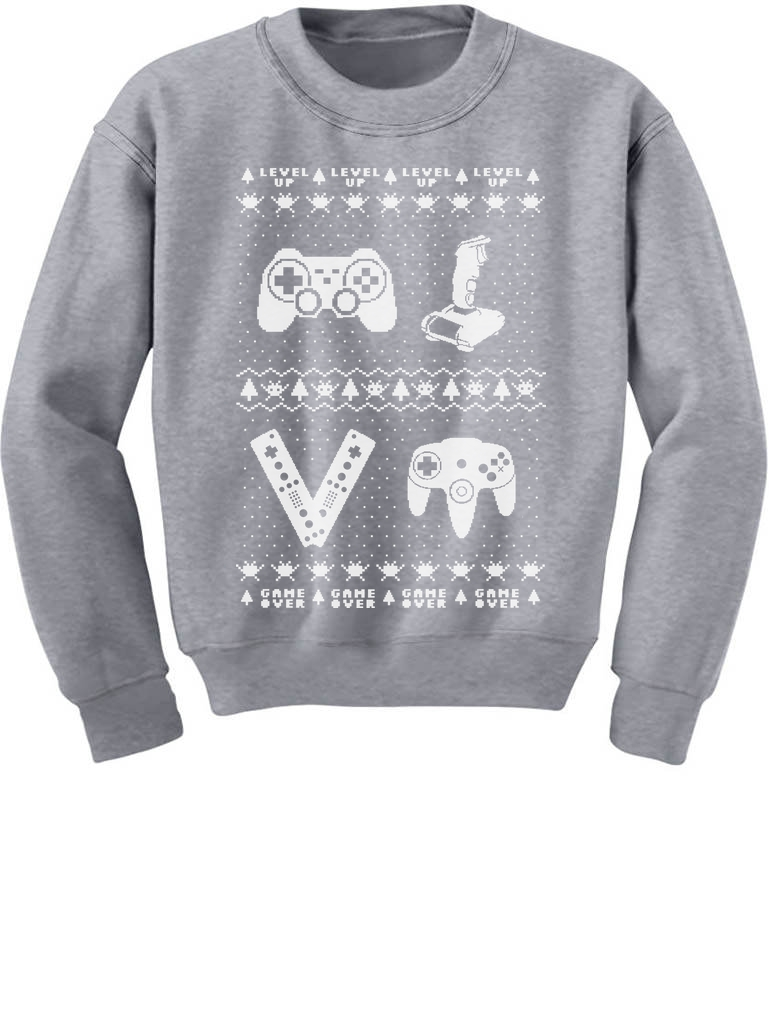 Gamer Ugly Christmas Sweater Holiday Xmas Toddler Hoodie