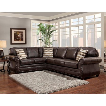 Pleasant Sofa Trendz Bindy Saddle Faux Leather Sectional Walmart Com Alphanode Cool Chair Designs And Ideas Alphanodeonline