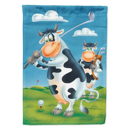 Cow playing Golf Garden Flag Golf Pin Flag