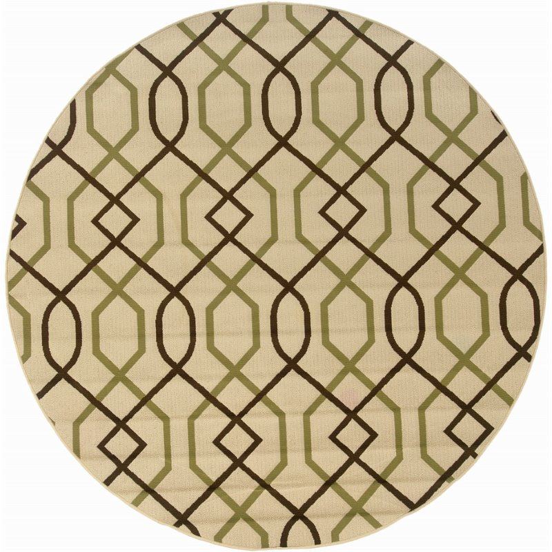 Sphinx Montego Area Rugs - 896J6 Contemporary Ivory Lines Zig Zag Stripes Rug