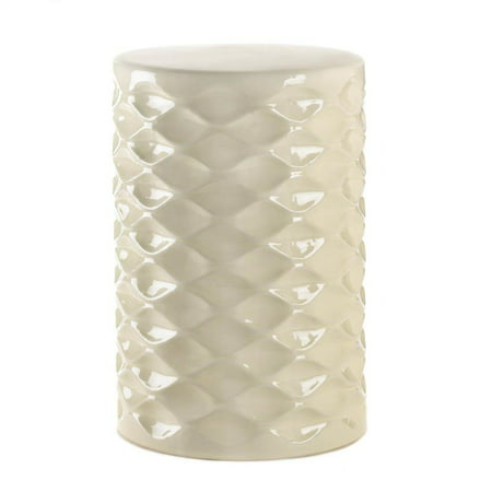Footstool Kids, Decorative Ivory Faceted Patio Accent Modern Footstool,  Round ()