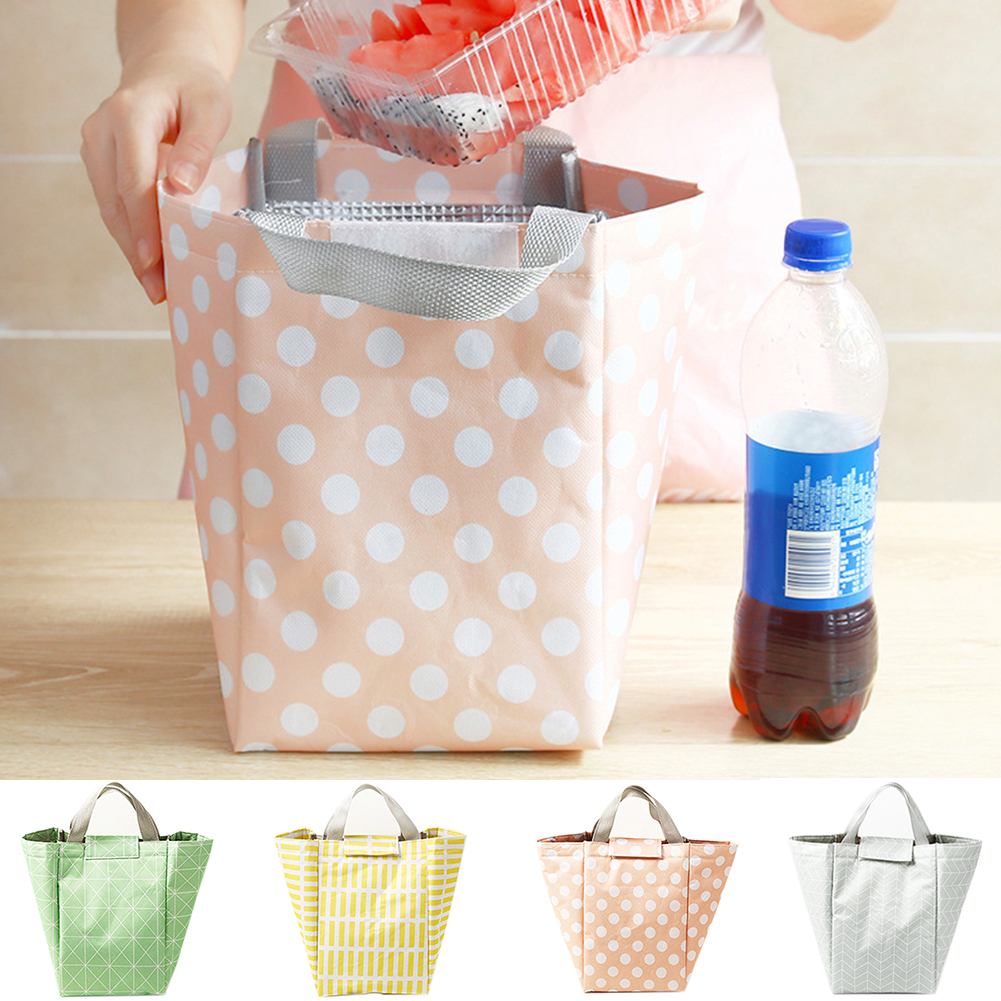 Moderna Fashion Thermal Insulated Food Storage Pouch School Office Bento Lunch Tote Bag