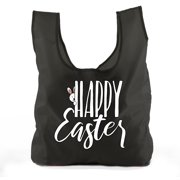 Easter Basket Bags, Bulk Reusable Grocery Bags, Easter Egg Hunt Tote Bags - Peaking Bunny