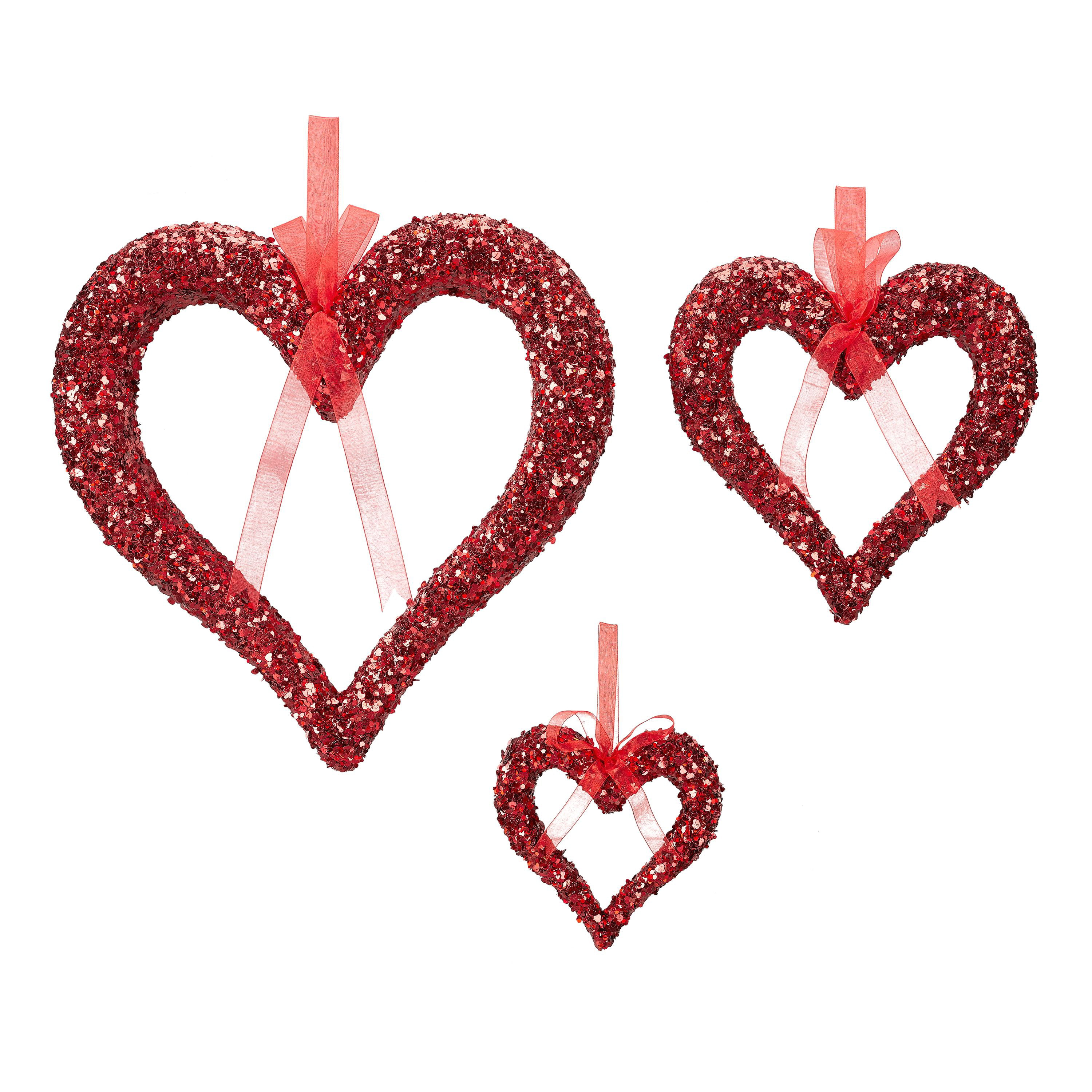 Mother/'s Day Glittered Foam Heart Picks in Red Cupids Finest 9 Valentines 5-ct.