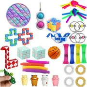 Binpure Sensory Fidget Toys Set, 33Pcs Stretchy String Stress Relief Toys Kit