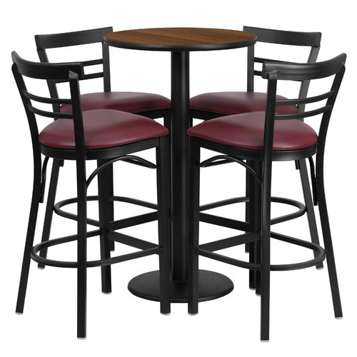 Red Barrel Studio Chirag 5 Piece Pub Table Set