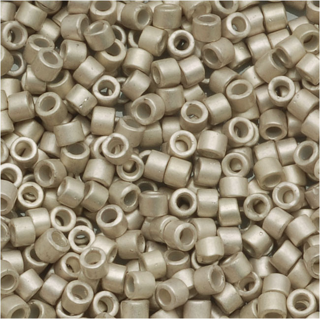 Miyuki Delica Seed Beads 11/0 Galvanized Silver Frost Lt. Smoke Amethyst  7.2g